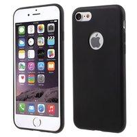 Massive schwarze Silikonhülle iPhone 7 8 Schwarze Abdeckung Mat