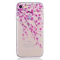 Blüte Fall transparent iPhone 7 8 SE 2020 rosa Blumen TPU Fall