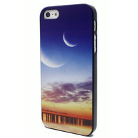 Sonnenuntergang Hülle iPhone 5, 5s und iPhone SE 2016 Sonnenuntergang mit Mondabdeckung