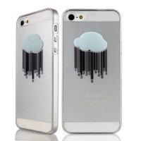 Robuste Hartschale mit Cloud iPhone 4 und 4s Transparente Regenhülle
