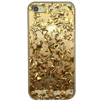 Transparente TPU-Hülle mit Blattgold iPhone 5 5s und iPhone SE 2016 Goldener Hülle