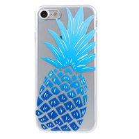 Blaue Ananas Hülle TPU iPhone 7 8 SE 2020 Klare Hülle Blau