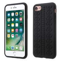 Autoketten iPhone 7 8 SE 2020 Schwarzes Silikon Autoreifenabdeckung