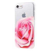 Rosa Rose TPU Hülle iPhone 7 8 SE 2020 klare Hülle Blumenhülle