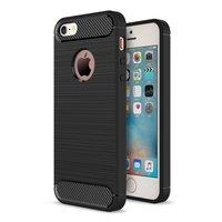 Schwarze Carbon TPU Hülle für iPhone 5 5s SE 2016 Armor