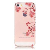Blüte TPU iPhone 5 5s SE 2016 Hülle - Klar - Blumenzweige - Blumen