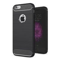 Carbon Armor Schutzhülle für iPhone 6 6s TPU - Schwarz