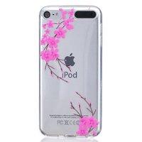 Rosa Blumen TPU-Hülle für iPod Touch 5 6 7 transparente Abdeckung