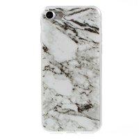 Marmor TPU Hülle iPhone 7 8 SE 2020 Weiße Hülle Marmor Hülle Abdeckung