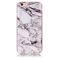 Marmoretui Hülle iPhone 6 6s Silikon - Marmor - Weiß