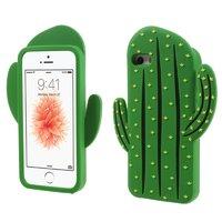 Grüne 3D-Kaktushülle Silikon iPhone 5 5s und SE 2016