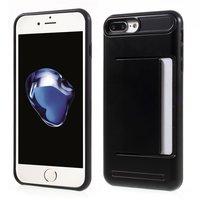 Schwarzer Kartenclip für das iPhone 7 Plus 8 Plus