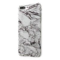 Weiße Marmorhülle iPhone 7 Plus 8 Plus TPU
