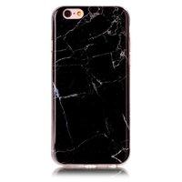 Schwarze Silikon TPU Marmor Hülle für iPhone 6 und 6s