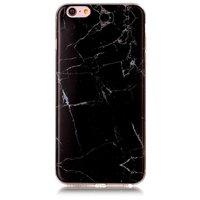 Schwarzer Marmor Fall iPhone 6 Plus 6s Plus TPU Fall