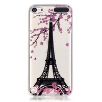 Paris rosa Blüte transparent iPod Touch 5 6 7 TPU Silikonhülle