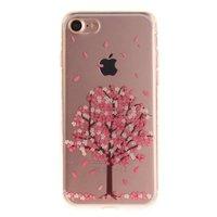 Klare rosa Blütenbaum iPhone 7 8 SE 2020 TPU Hülle