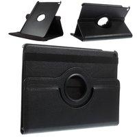 Schwarzes iPad Air 2 Hüllenetui mit drehbarem Abdeckständer