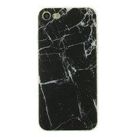 Marmor TPU Hülle iPhone 7 8 SE 2020 - Marmor - Schwarz