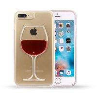 Transparente Hartschalen-Weinhülle für iPhone 7 Plus 8 Plus