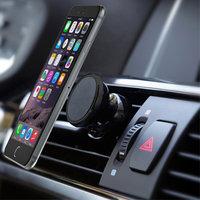 Universal Magnet Telefon Autohalter Lüftungsgitter - iPhone - Samsung - Schwarz
