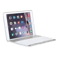 Bluetooth Tastaturabdeckung Tastaturabdeckung Gehäuse iPad Air 2 - Silber - QWERTY