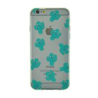 Happy Cactus Clear TPU Hülle für iPhone 6 6s Cover