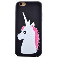 Weiß rosa Einhorn Hülle iPhone 6 6s TPU Einhorn Abdeckung