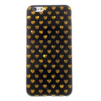 Schwarzgold Herzen iPhone 6 6s Abdeckung