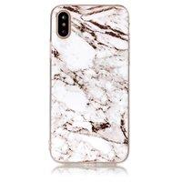 Marmor TPU Hülle für iPhone X XS Weiße Marmor Hülle Abdeckung