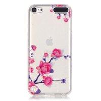 Durchscheinende Blumenhülle für iPod Touch 5 6 7 Hülle Zweige lila rosa