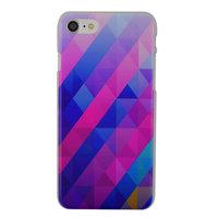 Blaues lila Dreieck iPhone 7 8 SE 2020 Hardcover