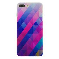 Blaues lila Dreieck iPhone 7 Plus 8 Plus Hardcover