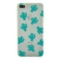 Transparente Kaktus-TPU-Hülle für iPhone 7 Plus 8 Plus Hülle