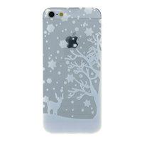 Weiße Winter Weihnachten Silikon iPhone 5 5s SE 2016 Hülle Hülle Abdeckung