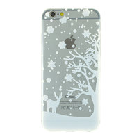 Weiße Winter Weihnachten Silikon iPhone 6 6s Hülle Hülle Abdeckung