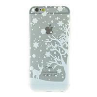 Weiße Winter Weihnachten Silikon iPhone 6 Plus 6s Plus Hülle Hülle Abdeckung