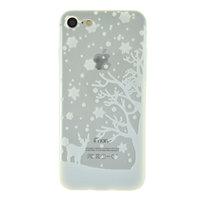 Weiße Winter Weihnachten Silikon iPhone 7 8 SE 2020 Hülle Hülle Abdeckung