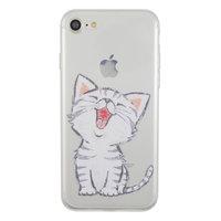 Durchscheinende weiße Kätzchensilikon iPhone 7 8 SE 2020 Hülle Hülle