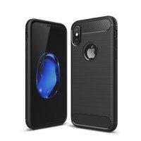 Carbon Armor Hülle für iPhone X XS schwarz TPU Hülle Schutz