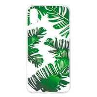 Lässt TPU Hülle transparent iPhone X XS Abdeckung grüne Natur Hülle