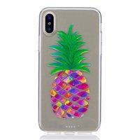 Bunte Ananas Hülle für iPhone X XS Abdeckung Frucht transparent