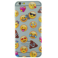 Transparente Emoji iPhone 6 6s TPU Hülle Abdeckung Smiley