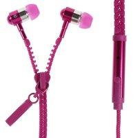 Rosa Reißverschluss In-Ear-Ohrhörer Ohrhörer-Mikrofonreißverschluss