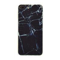 TPU-Hülle aus schwarzem Marmor für iPhone 7 Plus 8 Plus Marmorabdeckung