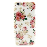 Weiß Rosa Rosen Floral Classic iPhone 6 6s Hülle Hülle