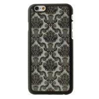 Schwarz Barock Abdeckung iPhone 6 6s Hardcase Fall Henna Damast Blume