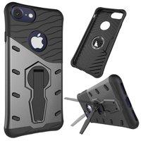Schwarz Grau Rüstung Ständer iPhone 7 Plus 8 Plus