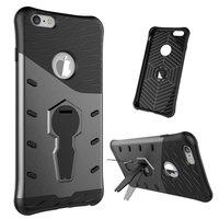 Schwarz Grau Rüstung Ständer iPhone 6 Plus 6s Plus Hülle Hülle Abdeckung