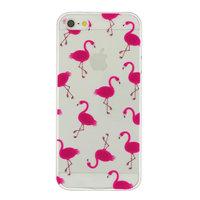 Transparente rosa Flamingo TPU Hülle für iPhone 5 5s SE 2016 Hülle